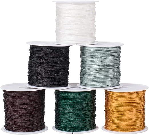 UK/_ 1.5mm Macrame Shamballa Braided Bracelet Rattail Cord Thread String Rope Com