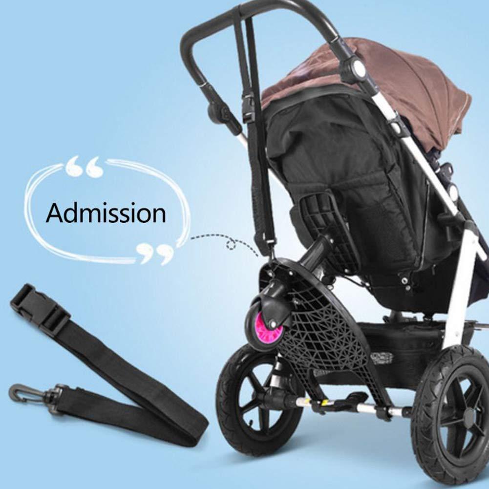 Placa de pie para Carro de beb/é y Asiento Pedal Auxiliar Pink Plataforma Carrito Paseo con Asiento,Remolque de Cochecito Artifact para el Segundo ni/ño