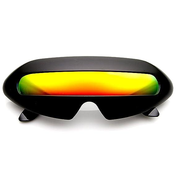 zeroUV - Gafas de sol de estilo cíclope, color neón, diseño ...