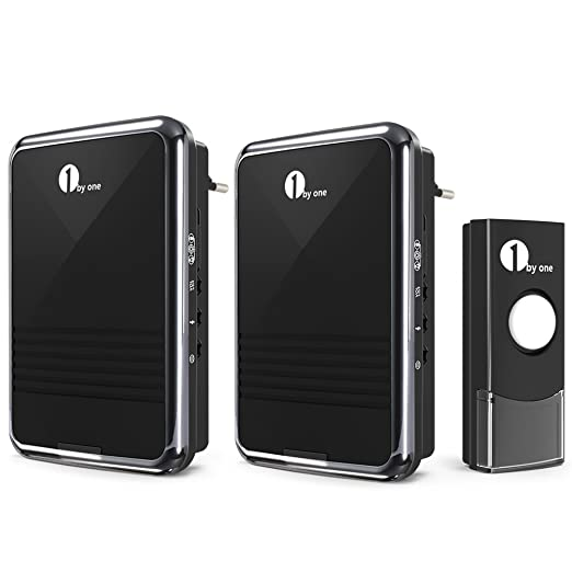 62 opinioni per 1byone Kit Campanello Senza Fili Wireless, Wireless Doorbell con 2 Ricevitori