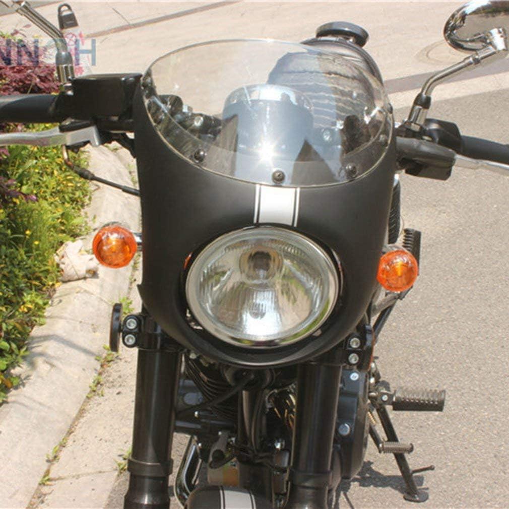 Manalada/® Professionelle Weinlese-Motorrad-Verkleidung Racer Cafe Scheinwerfer Hood
