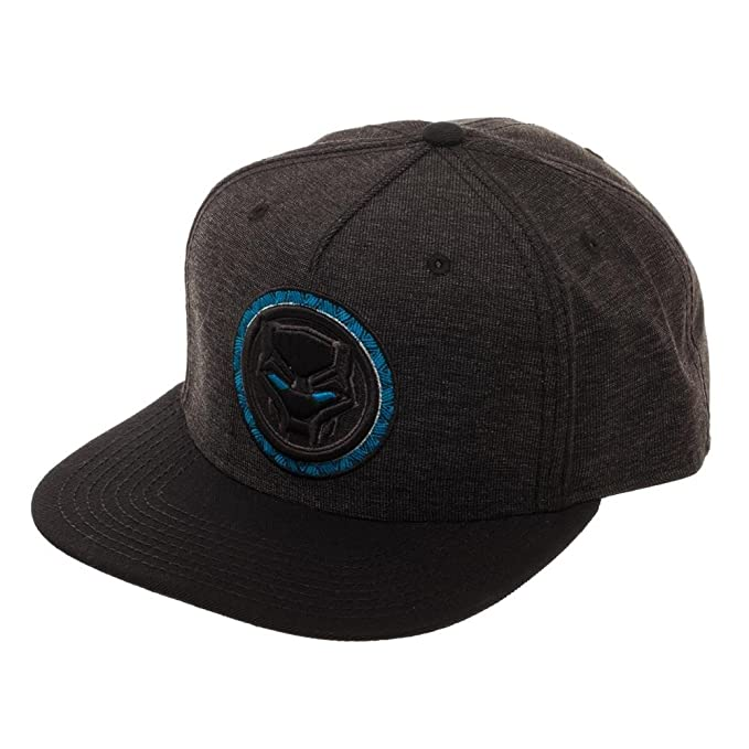 Image Unavailable. Image not available for. Color  Bioworld Marvel Black  Panther Snapback 0eff549c1e1