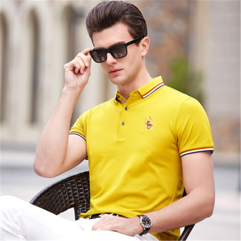 Mens Modern Fit Short Sleeve Polo Shirt Stretch Polo Shirt Short Sleeve T-Shirt