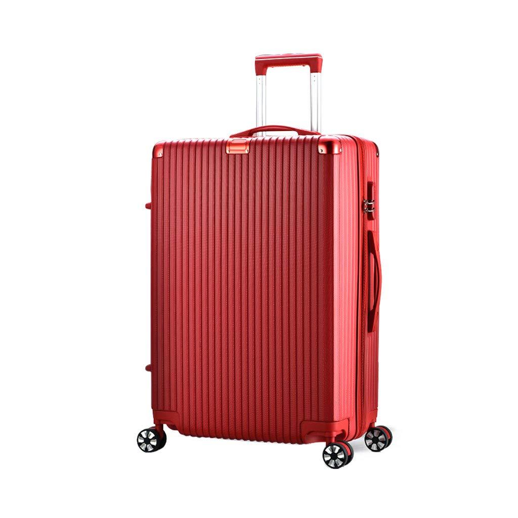 スーツケース旅行ABSハードシェル4ホイールキャリーバッグキャリーケーススーツケース、レッド 36*25*53cm  B07MJP1TKB