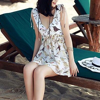 XIAOHUAHUA Hot Spring Maillot De Bain Femme Petite Poitrine Conservateur Avec Trois Morceaux De Bikini