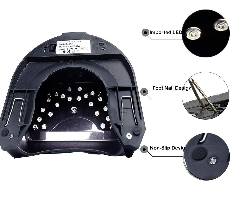 Amazon.com: 48 W-64 W Recargable Secador de Uñas -Lumcrissy ...