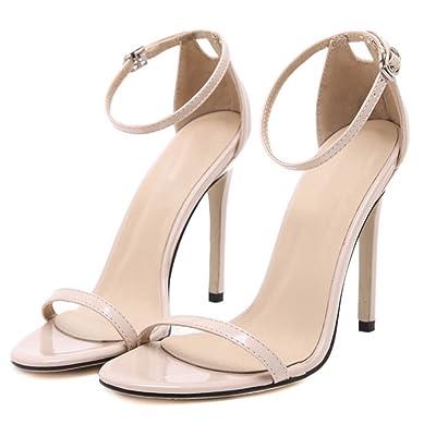 Chaussures pour femmes Sandales à boucle Sandales à talons Sandales à talons simples Stilettos de rue simples Été GAOLIXIA