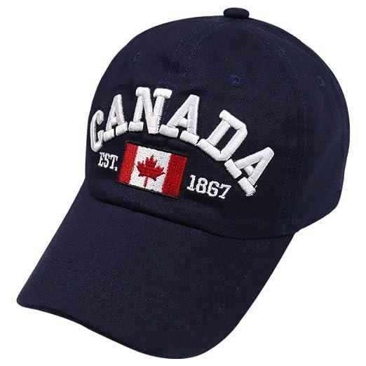 zhuzhuwen 2019 Canadiense Canadiense Bordado Gorra de béisbol ...