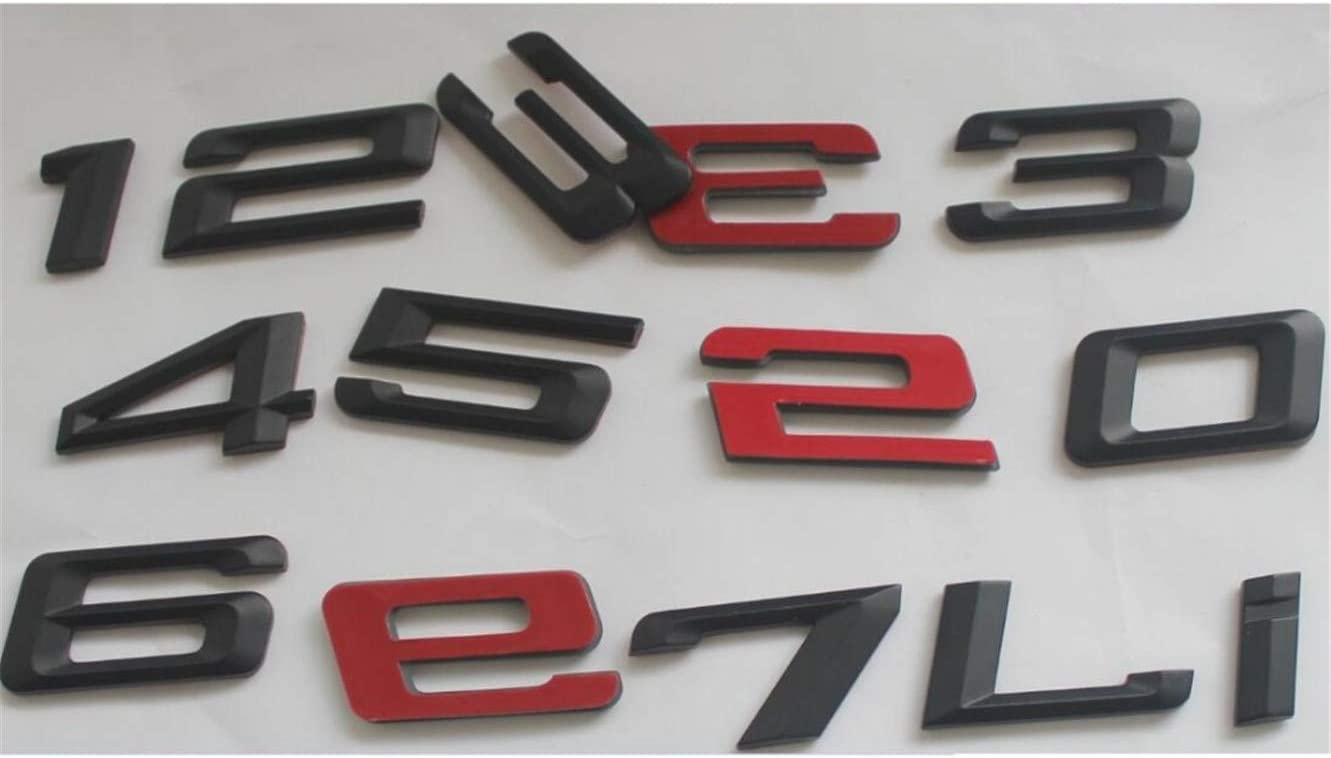 Matte Black ABS Number Letters Word Car Trunk Badge Emblem Letter Decal Sticker for BMW 3 Series 328i
