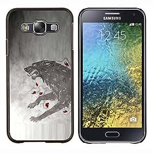 GOT Lobo- Metal de aluminio y de plástico duro Caja del teléfono - Negro - Samsung Galaxy E5 / SM-E500