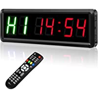 FENGLI LED programmeerbare interval timers met afstandsbediening, 1,5 High Character Gym Timer, Tabata, Stopwatch, Count…