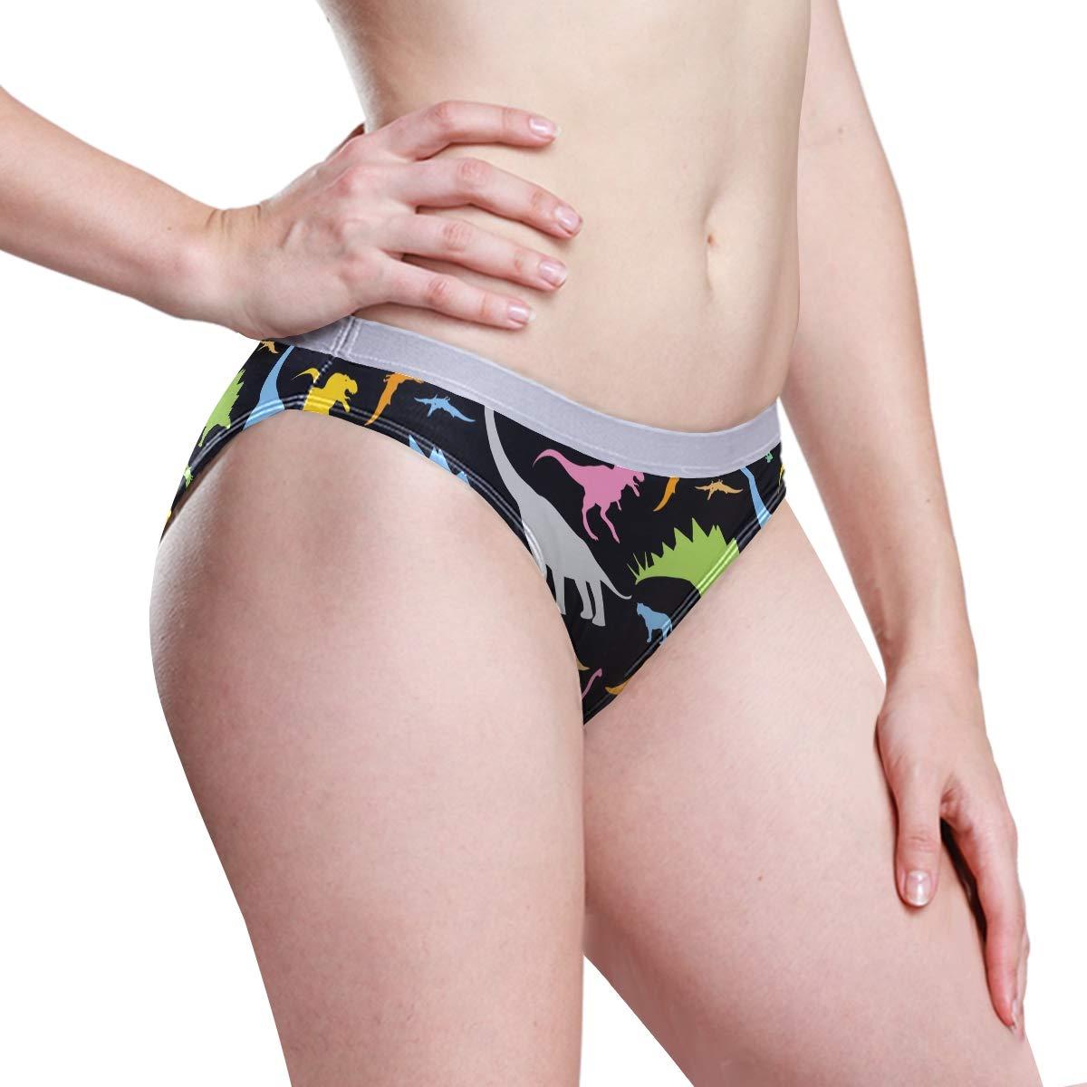 FAJRO Colorful Animal Dinosaurs Party Womens Low-Rise Underwear Panties Spandex