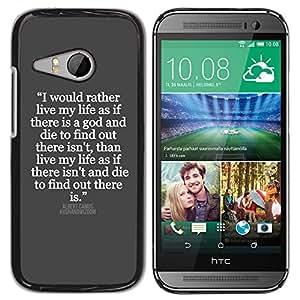 YOYOYO ( NO PARA HTC ONE M8 ) Smartphone Protección Defender Duro Negro Funda Imagen Diseño Carcasa Tapa Case Skin Cover Para HTC ONE MINI 2 M8 MINI - gris blanco cita inspiradora Jesús dios