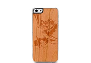 product image for CARVED Clear Cherry Wood Case for iPhone 5 - Wild West (I5-CC1K-E-WLDWS)