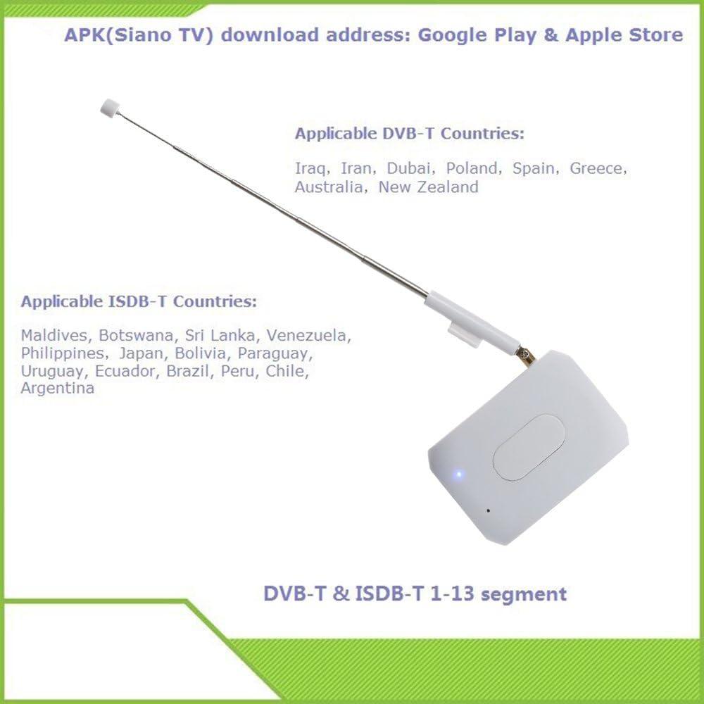 Andoer® Receptor del palillo Box de TV DVB ISDB-T DTV Link ...