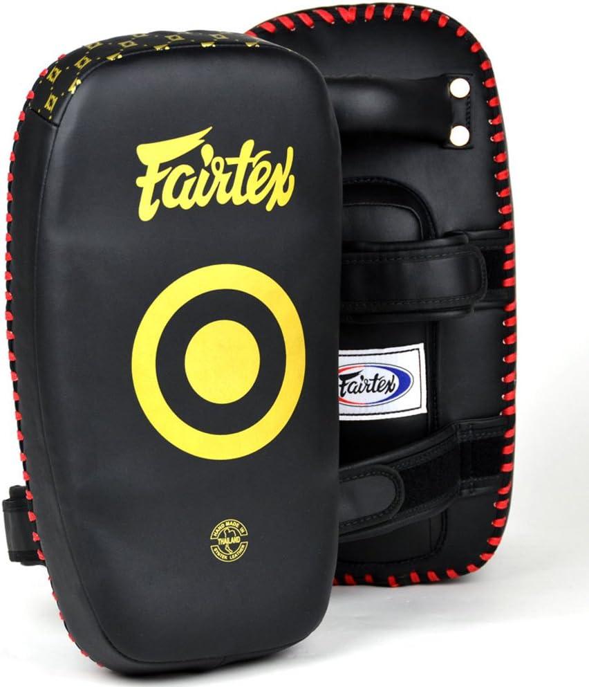 Black Fairtex KPLC5 Muay Thai Kickboxing Lightweight Thai Pads Black//Gold
