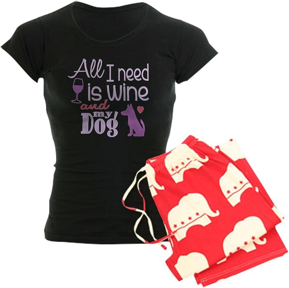 CafePress Wine Dog Ii Women39;S Dark Pajamas Womens PJs