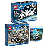 LEGO City Space Explorer Bundle: Space Utility Shuttle 60078, Space Starter Set 60077, and Mini Moon Buggy Vehicle 30315 by LEGO