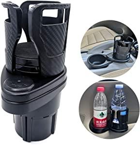 UMISKY Car Cup Holder Expander, Auto Drink Holder Adjustable Double Cup Holder Extender with 360° Rotating Adjustable Base to Hold Most Water Bottles Drink KFC McDonald Coffee Cup