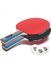 Killerspin Jetset Table Tennis Set with Ping Pong Balls, Pack of 2