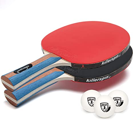 Killerspin JET Set 2 Table Tennis Paddles and Ping Pong Balls, 2 Ping Pong Paddles and 3 Ping Pong Balls, Great for Beginners and Kids, Table Tennis ...