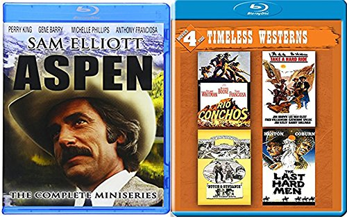 Timeless Westerns Blu Ray + Aspen: The Complete Miniseries & The Last Hard Men / Rio Conchos Butch & Sundance / Take a Hard Ride set western bundle