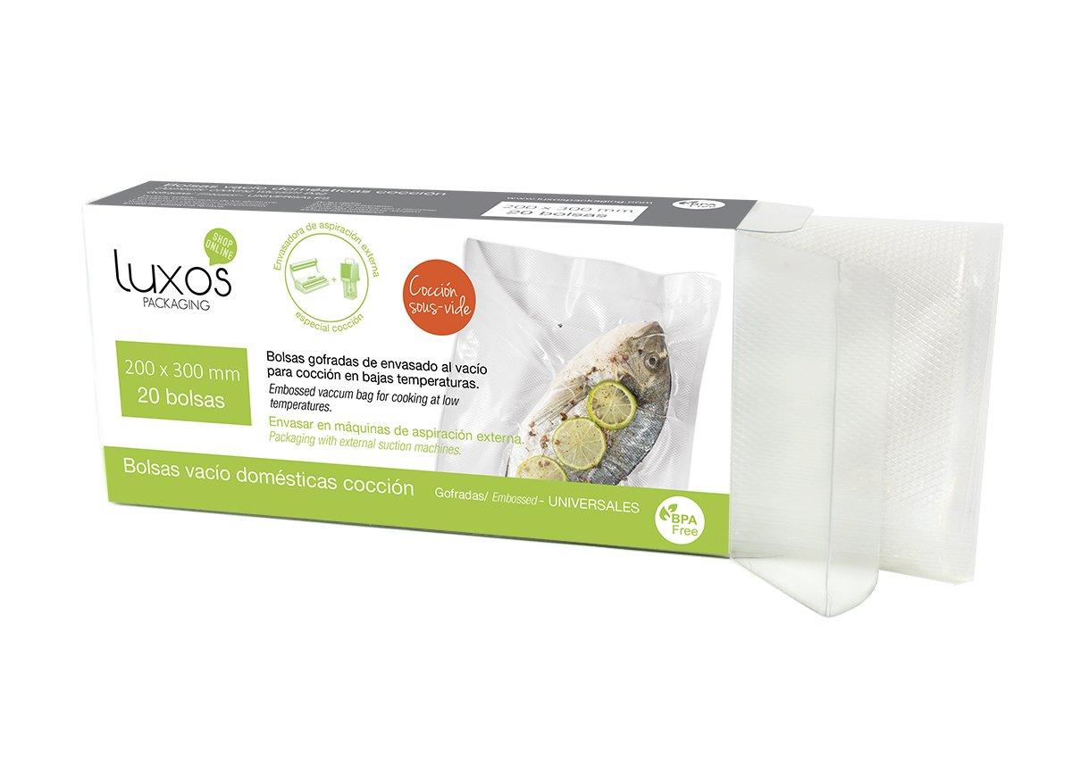 Luxos Packaging - Bolsa vacío doméstica de cocción, 200 x ...