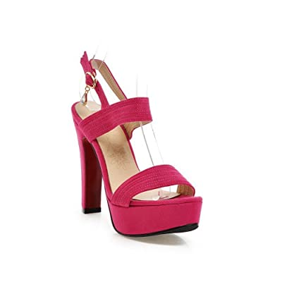 1To9 Sandales Pour Femme Rouge Pêche, 38.5 EU, MJS00385
