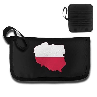 good Poland Map Flag Design Multifunctional Anti-theft Travel ...