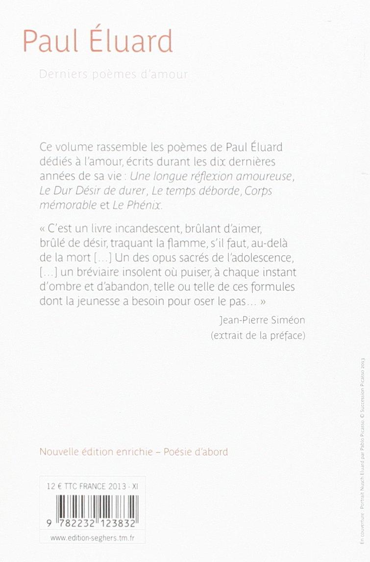 Derniers Poèmes Damour Poésie Dabord Amazones Paul