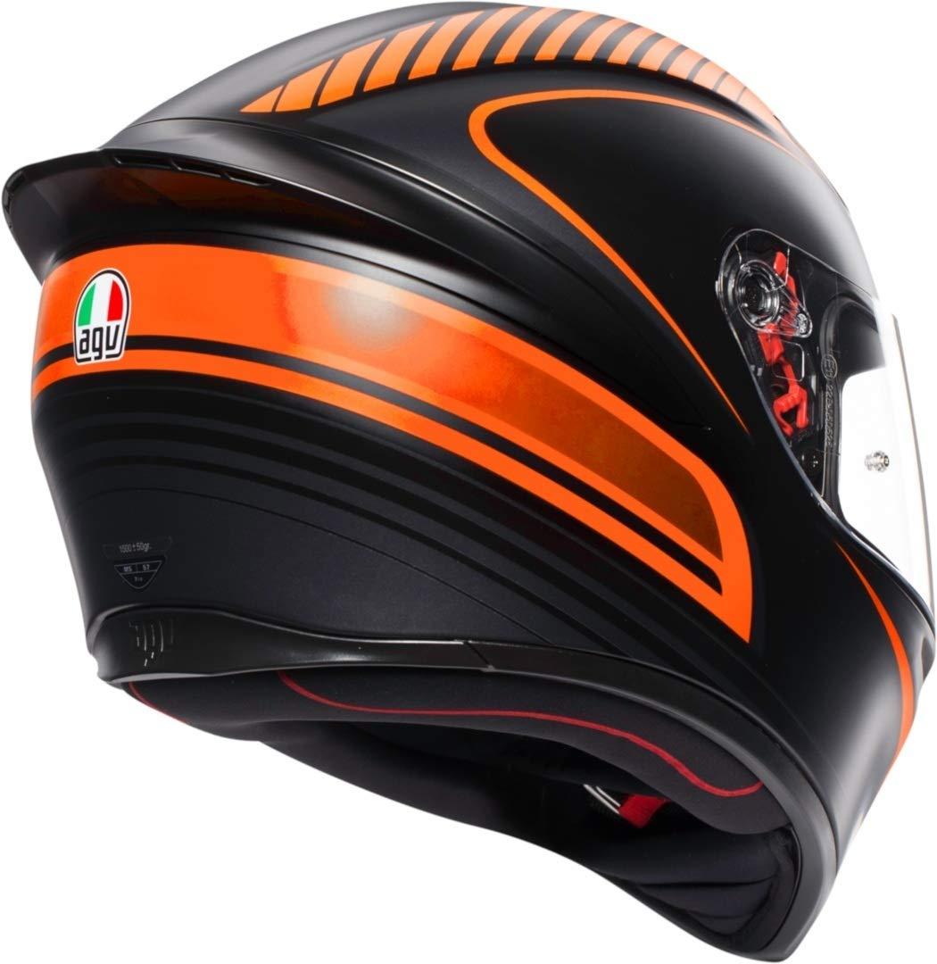 AGV K1 Warm Up Naranja Casco De Moto De Cara Completa Tamano ML