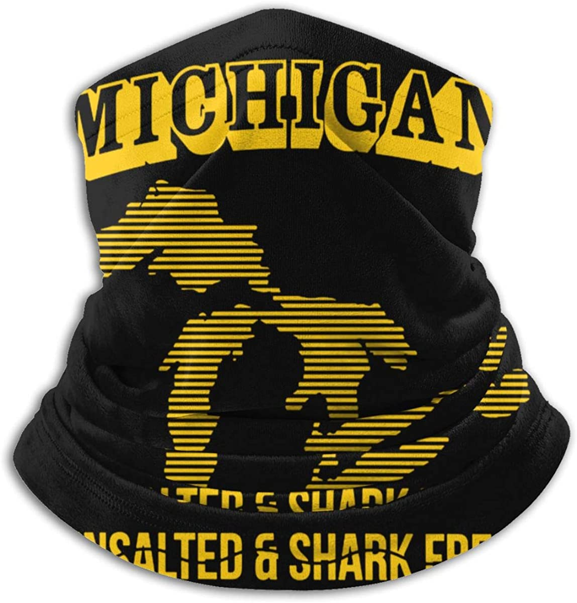 Michigan Unsalted Shark Free Balaclava Breathable Face Mask Scarf Microfiber Neck Warmer for Unisex