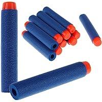 Toyshine 50 Pcs Foam Dart Bullets, Round Head, Blue