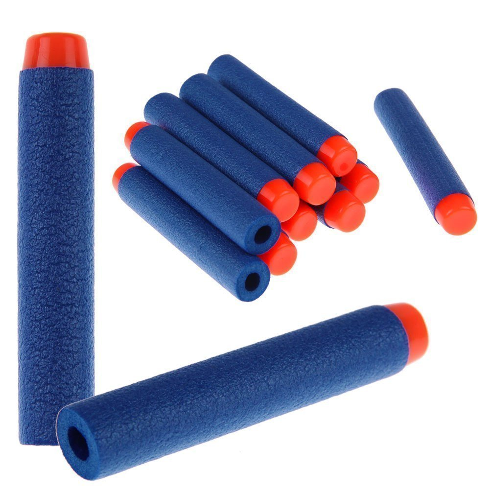 Toyshine 50 Pcs Foam Dart Bullets, Round Head, Blue