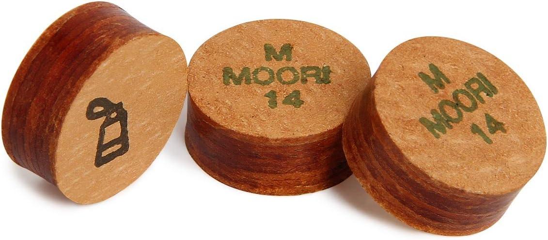 Moori IVラミネートプールビリヤードキューヒント – 1 Pc – Medium – 13または14 mm – 純正  14 mm
