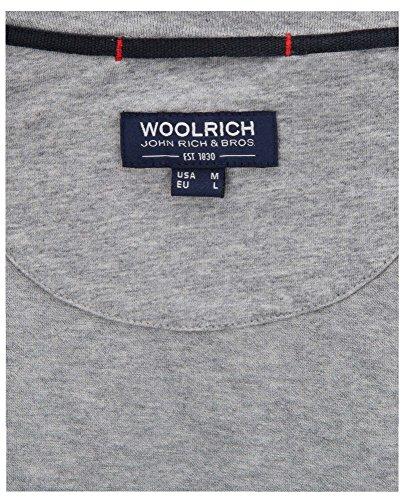 Wotee1101 Woolrich T 100 103a shirt Grey Grigio C neck cotone Logo grigio dnZfHxn