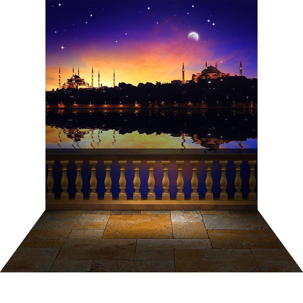 写真バックドロップwith床 – Arabian Nights with balustrade – 10 x 20 ft。高品質シームレスなファブリック   B0135DYU4K