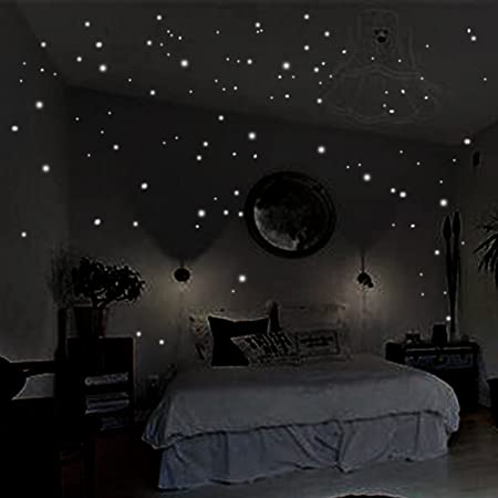 Coceca 400 Pcs Glow In The Dark Star Stickers Round Dot Luminous