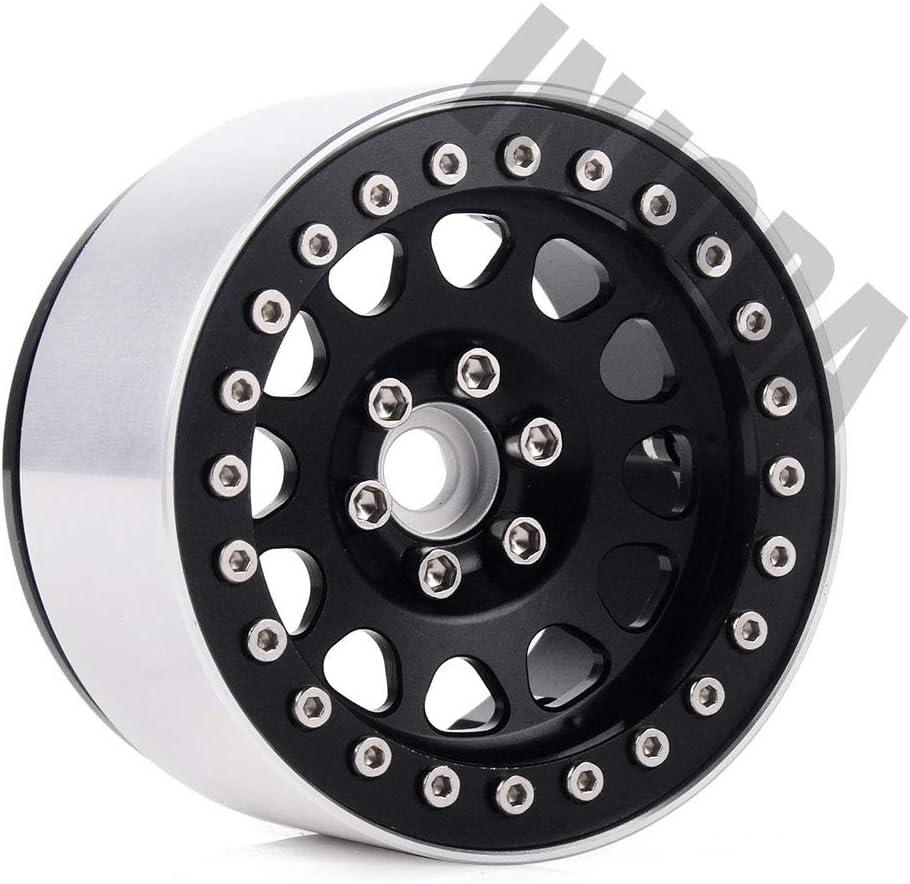 INJORA 1/10 RC Rock Crawler Aluminum Alloy 2.2 Beadlock Wheel Rims ...