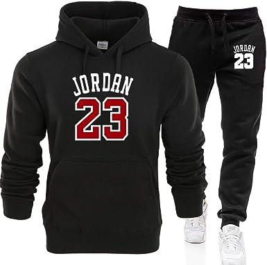 LJA Jordan 23 Hombres Ropa Deportiva Sudaderas con Capucha ...
