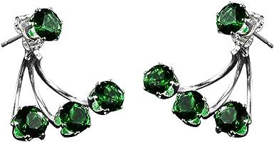 Dylandy Fashion Stud Earrings New Rear Hanging Color Diamond Earrings Women's Wild Earrings Accessories