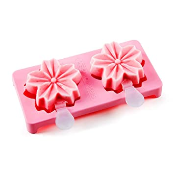 Compra NEWELL Sakura Ice Cream Mold, Ice Lolly Grinding Tool, DIY Silicone Popsicle Molds Set en Amazon.es