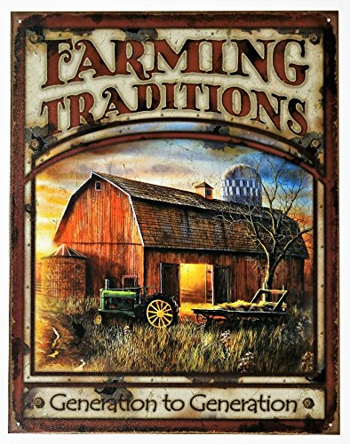 Farming Traditions Generation to Generation Tin Sign 16 x 13
