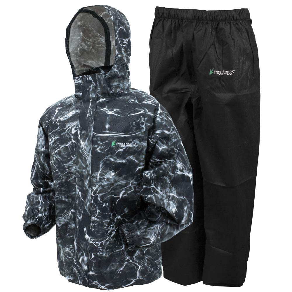 Frogg Toggs All Sport Rain Suit, Mossy Oak Elements Blacktip/Black Pants, Size Small
