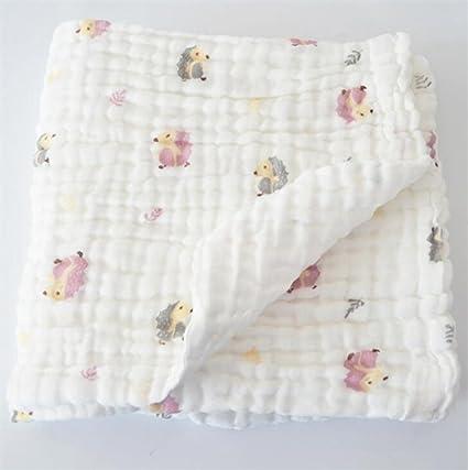 Bebé algodón, gasa médica, Toalla de baño, impresión, lindo bebé toallas,
