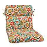 Cheap Pillow Perfect Outdoor Bronwood Carnival Rounded Corners Chair Cushion, Multicolored