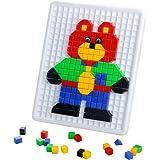 Costruzioni Giocattolo di Puzzle Giocattoli Mattoni Plastica con Scatola Gioco Educative per Bambini da 3 Anni in su, 420 Pezzi