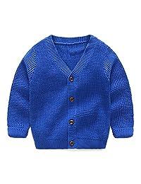 LittleSpring Little Boys Button Round Collar Knitwear