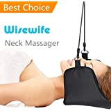 Neck Massager Best Solution for Headaches Alleviate Neck and Back Pain Shoulder Relax Foot Rest Relaxation Massager Stress Reliever for Men Women - Cervical Traction Set