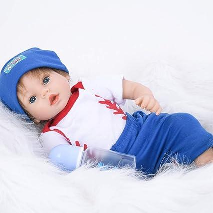 Muñecos Bebé Simulación Silicona 55 Cm Boca Magnética ...